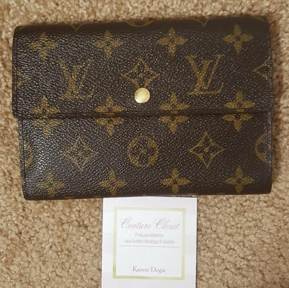 0fdac9fe93d1 Louis Vuitton Handbags - Louis Vuitton Monogram trifold passport wallet